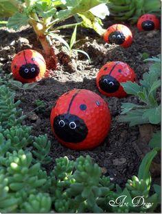 Lady bug golfballs