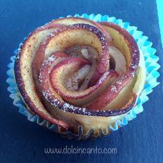 Rosa di pasta sfoglia, mele e cannella