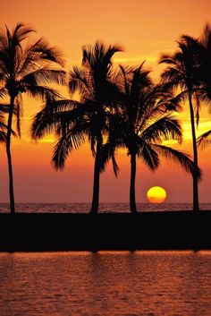 Sunset over Big island, Hawaii. Beautiful Places To Visit, Beautiful Beaches, Paradise Places, Cool Pictures, Beautiful Pictures, Beautiful Sunrise, Jolie Photo, Background Pictures, Sunset Photos