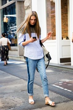 Caro and her denim awesomeness. #CarolineBraschNielson #offduty in NYC.