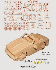 Check Out These Tips About Wooden Toy plans Woodworking is both a valuable trade and an artistic skill. Wooden Toy Trucks, Wooden Car, Wooden Toys, Woodworking Toys, Woodworking Projects, 3d Puzzel, Wood Toys Plans, Laser Cutter Projects, Cardboard Sculpture