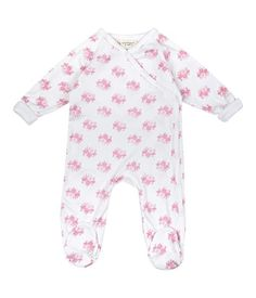 Flame Retardant Free Baby Pajamas. Organic Cotton and super soft and easy to change.