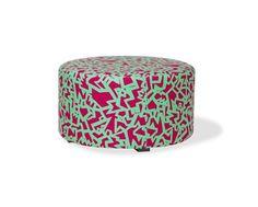 Puff Neon Letras Pink e Turquesa - Pufes na Oppa