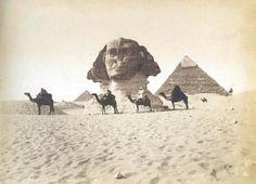 The Sphinx, Giza, Egypt; circa 1849.