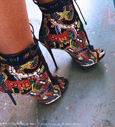 COLORFUL BLING BOOTIES