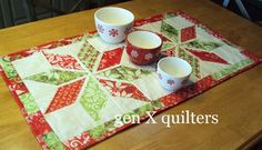 This Poinsettia Quilt is one of my favorites! It is one of my first few quilts and really brings the Christmas spirit to my home when I pu...