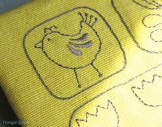 Scandi style bird embroidery pattern