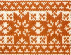 orange-nordic-star-knitting