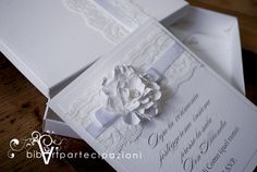 wedding invitation - partecipazione nozze shabby shic - https://www.facebook.com/partecipazioni.bibart?ref=hl