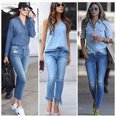 JEANS- VIA: @and.store Demin Outfit, Bluse Outfit, All Jeans, Skinny Jeans, Look Fashion, Fashion Outfits, Womens Fashion, Looks Jeans, Casual Outfits