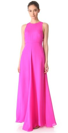 Neon gown. WOW!