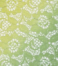 All That Glitters Fabric- Foiled Ombre Lace Limeade