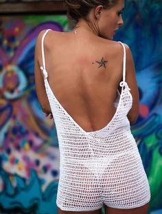 Crochet el body, pijama, ropa, tendencia del verano.