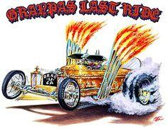 Hot Rod Muscle Car Cartoons  