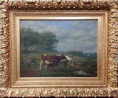 LgOrig Estate Find James McDougal Hart Hudson River Catskills Cattle Painting #Realism