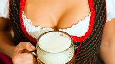 Woman With Beer On Décolleté In Bavaria Stock Image - Image of girl, stein: 16977761 Bavarian Recipes, Oktoberfest Outfit, Stock Image, Glass Of Milk, Instagram, Bratwurst, World's Biggest, Slammed, Festivals