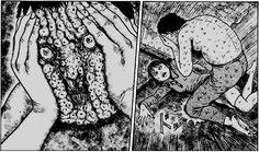 horror manga holes in mountain