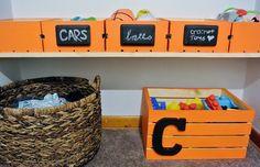Toy Storage!  Playroom ideas...