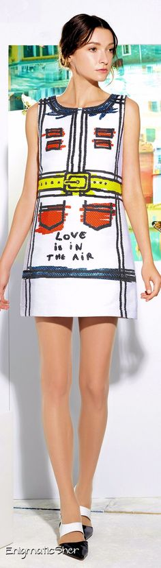 Alice + Olivia Pre Spring 2015 - I am in love with this dress #fashion #clothes #dress