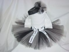 OAKLAND RAIDERS Football TuTu Skirt and Headband by dianaburnett, $17.75