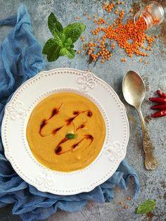 Török vöröslencse-krémleves - Kifőztük Thai Red Curry, Dinner, Breakfast, Ethnic Recipes, Food, Dining, Morning Coffee, Food Dinners, Essen