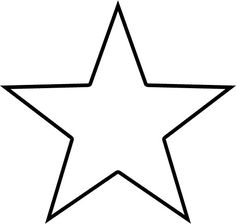 5 point star template craft pattern 5 pointed star pattern estrella maxwellsz