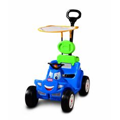 Parents and children will love this fun riding toy from Little Tikes. The handle attaches to the back or front so the car can be pushed or pulled, and the large tires roll easily.