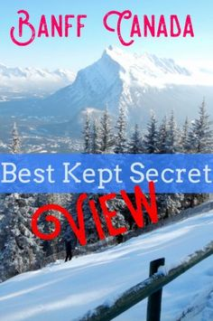 Where to find Banff views in winter. Click to learn the Banff secret of this fabulous location in Banff National Park. An uncrowded gem in Banff Canada. #Banff #BanffNationalPark
