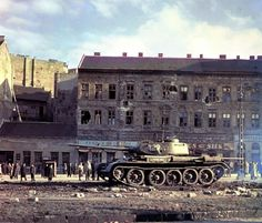 Russian tank in Budapest 1956