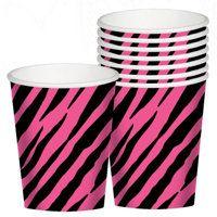Pink zebra cups. X