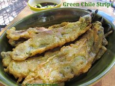 This Green Chile Strips Appetizer with Honey Teriyaki Dipping sauce is one of our favorites and most asked for of all our Hatch Green Chili Recipes. Hatch Green Chili Recipe, Green Chili Recipes, Hatch Chili, Green Chilli, Polenta Pizza, Chorizo, Sauce Recipes, Cooking Recipes, Yummy Recipes