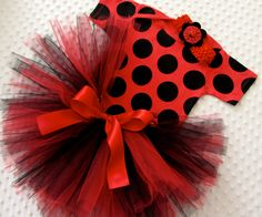 Onesie Tutu Set Lady Bug Birthday Outfit Baby by LittlePartridge, $32.00