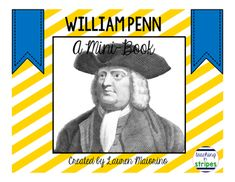 Free print and fold mini book about William Penn, the founder of Pennsylvania