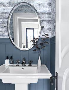The Best Blue Gray Paint Colors Designers Always Use Under Bathroom Sinks, White Bathroom, Modern Bathroom, Bathroom Ideas, Boy Bathroom, Bathroom Small, Bathroom Renos, Bath Ideas, Master Bathroom