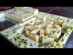 Milk Powder Burfi Sweet Recipe   How To Make Ice Cream Burfi   Milk Barfi   Indian Sweets Making - YouTube Sweet Dishes Recipes, Easy Pastry Recipes, Milk Recipes, Fudge Recipes, Sweets Recipes, Indian Food Recipes, Fancy Desserts, No Cook Desserts, Milk Powder Recipe