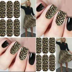 Inspired by Holly Willaby animal print nail art