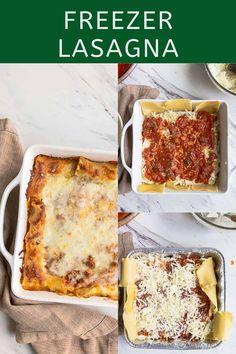 Freezer Lasagna in 8 Inch Pan - Cook Once, Eat Twice Small Lasagna Recipe, Lasagna Cook Time, Freezer Lasagna, Lasagna Recipe Without Ricotta, Baked Lasagna, Lasagna Casserole, Lasagna Soup, Freezable Meals, Healthy Freezer Meals