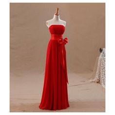 Buy 2014 New Arrival Sheath Sweetheart Strapless Floor-Length Chiffon... via Polyvore