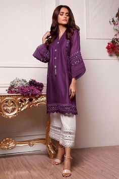 Fancy Blouse Designs, Stylish Dress Designs, Stylish Dresses, Women's Fashion Dresses, Casual Dresses, Stylish Kurtis, Fashion Blouses, Fashionable Outfits, Fashion Pants