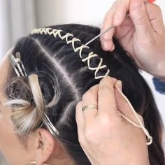 """These new festival hairstyle ideas are giving us whole new goals for life - Hair, skin , and nails! - We all think of one thing whenever anyone mentions """"festival hair"""". Undercut Hairstyles Women, Braided Hairstyles, Female Undercut Long Hair, Wedding Hairstyles, Going Out Hairstyles, Beach Hairstyles, Braided Updo, Coachella Hair, Curly Hair Styles"""