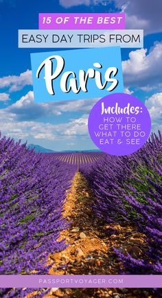 Looking for some day trips from Paris to make a quick escape from the hustle and bustle of the city? Check out 15 of the easiest day trips from Paris in our brand new guide! Paris Travel Guide, Europe Travel Tips, Travel Advice, Travel Guides, Travel Destinations, Travel Packing, European Destination, European Travel, Eurotrip