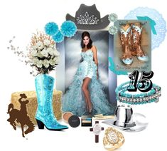 Quince Candles: Aqua Blue Country Western Sweet Fifteen Theme