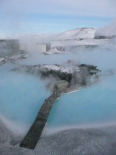 Reykjavik. Blue lagoon swimming hole. I WAS THERE AND I DIDN'T GET TO GO  @Sarah Chintomby Shotts