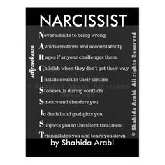 Narcissist Greeting Card No wonder people call you a narc. Because you are narcissist. Is what's sad is you really believe your something else. No wonder you can't get off your back with a soul as heavy is yours is. Narcissistic People, Narcissistic Behavior, Narcissistic Sociopath, Sociopath Traits, Narcissistic Mother, Narcissistic Boyfriend, Traits Of A Narcissist, Narcissist Quotes, Narcissistic Men Relationships