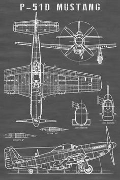 Airplane Art, Airplane Design, Bomber Plane, Flying Vehicles, Blueprint Art, Pilot Training, Aircraft Painting, Air Fighter, P51 Mustang