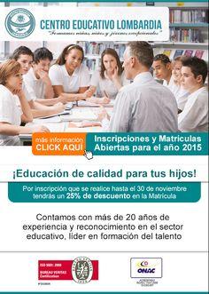 #NOVOCLICK esta con  Centro Educativo Lombardia #educacion #calidad descuento por pronta matrícula