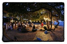 Camp-out Summer Wedding - A beach picnic for a rehearsal dinner. No camping, but this would be beautiful for rehearsal dinner! We have some great spots :)