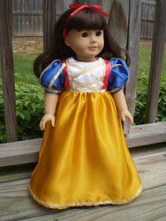 Snow White Costume 18 American Girl Doll von sassydollcreations, $25,99