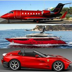 PJ Yacht or Supercar? Jets Privés De Luxe, Luxury Jets, Luxury Private Jets, Ferrari F12, Carros Lamborghini, Maserati, Jet Privé, Porsche Macan, Best Luxury Cars
