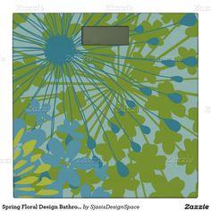 Spring Floral Design Bathroom Scale